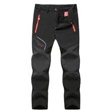 Pantalones Softshell tácticos impermeables para hombre, pantalón grueso y cálido de lana para invierno y otoño, Jogger de terciopelo con bolsillo y cremallera, ropa 2020