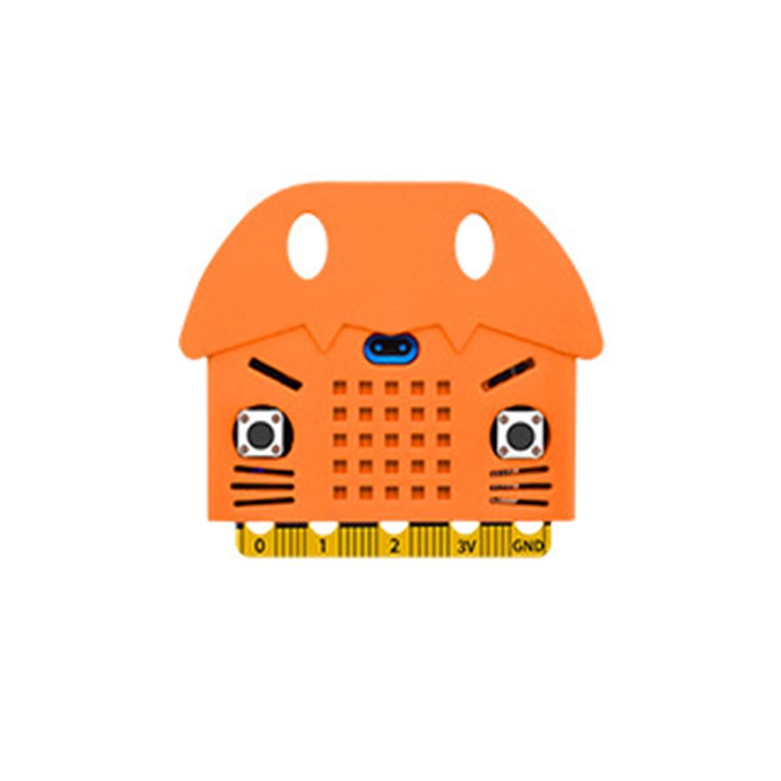 Экологичное уплотнение/тигр/в форме кота силиконовый защитный корпус Крышка корпуса для Micro: Плата расширения бита Bue/красный/оранжевый - Цвет: 3