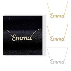 Image 2 - Nome personalizzato Collana Iced Out Zirconia Collana per le Donne di Pietra Collane A Catena Donne Collana con Nome Personalizzato Per I Regali di Donne