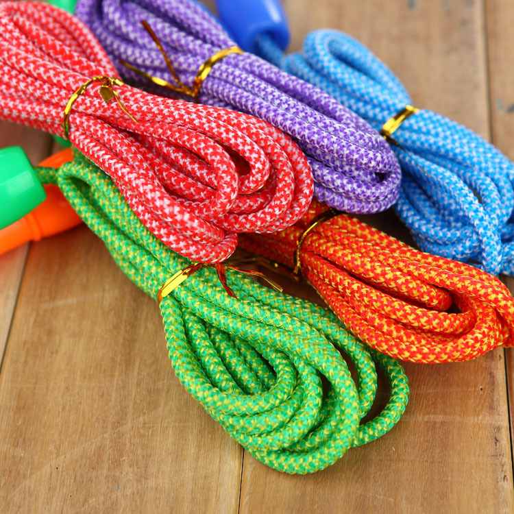 Children New Style Braided Rope Jump Rope Kindergarten Pattern Tiaoshen Rope Kids Young STUDENT'S Profession Fitness Regulation