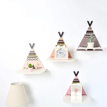 Скандинавские детские деревянные вилки Вилка полка для хранения декоративная для детской комнаты подарок для дома гостиной Декор JJJSN11465