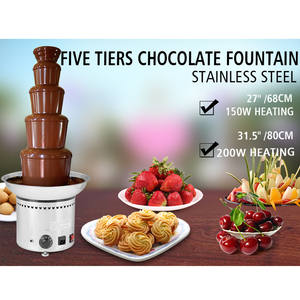 Large New 5 Tier Stainless Party Hotel Commercial 27inch 68cm Chocolate Fountain