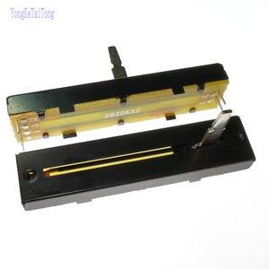 1PCS Taiwan ALPHA 20K 20KX2 72MM RA45D2F-211 B20K × 2 0B20KX2 de Slide Potenciômetro