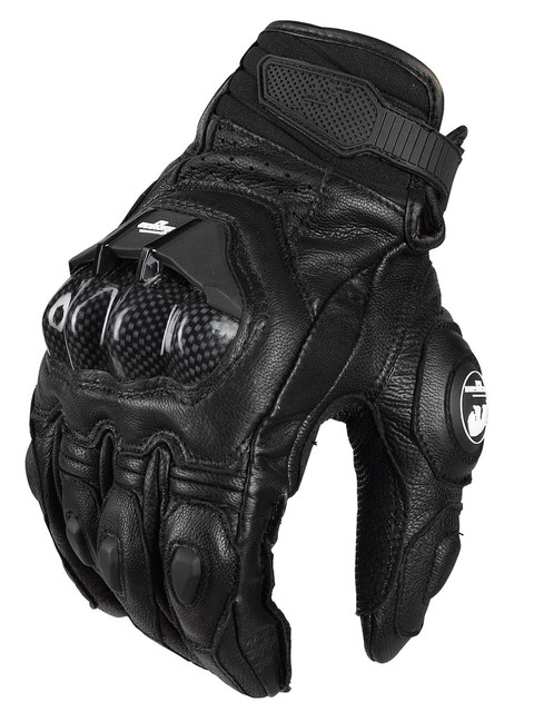 2020 New Men's Racing gloves Leather Carbon fiber Gloves Bicycle Cycling AFS 6 Motorbike Road Moto Motorcycle Gloves 1