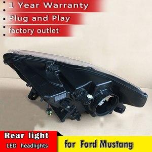Image 2 - Auto Styling 2015 2018 für Ford Mustang Scheinwerfer LED OEM version Scheinwerfer DRL LED Objektiv Doppel Strahl auto Zubehör