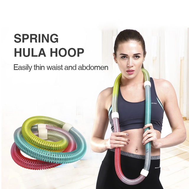 Spring Sports Hoops Waist Trainer Hoola Hoop Home Portable Fitness Gym Workout Equipments Slimming Lose Weight Resistance Bands 3