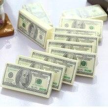 Доллар$100 банкноты карманные туалетные салфетки из шелковистой бумаги Шутка Подарок 4 июля вечерние казино