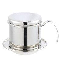 Gorąca sprzedaż przenośny filtr ze stali nierdzewnej wietnam kroplownik kawowy filtr do kawy filtr do przelewowego zaparzania kawy Pot filtry narzędzia w Filtry do kawy od Dom i ogród na