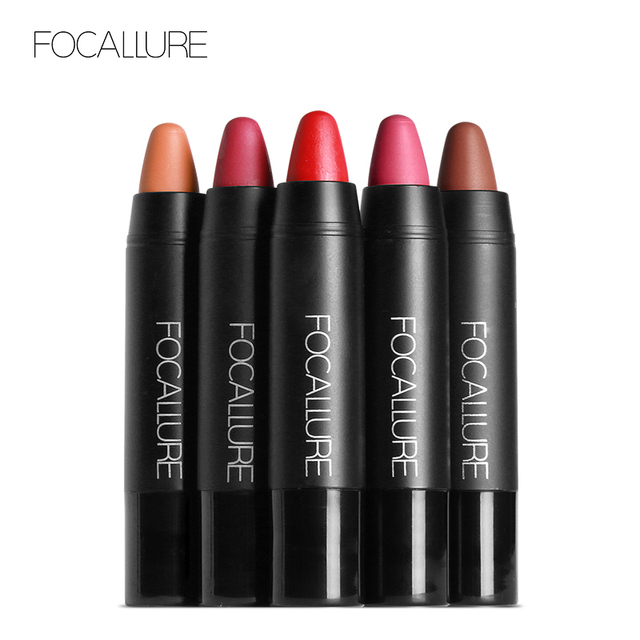FOCALLURE Matte Crayon Lipstick Waterproof Long-lasting Professional Lipstick Nude Red Lips Tint Pigment 19 Colors Easy To Wear 5