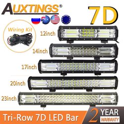 Auxtings 7D Tri-Row Combo Offroad LED Light Bar 12'' 14