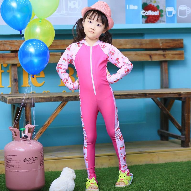Korean-style One-piece Swimsuit For Children GIRL'S Joint Sun-resistant Jellyfish Service Swimwear Girls Big Boy Baby Swim Bathi
