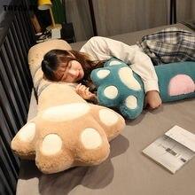 Cojín gigante de la linda Pata de Gato de 70-140cm, almohada de felpa suave y larga con diseño de pata de oso de dibujos animados para dormitorio, regalos para decoración del hogar, 1 unidad