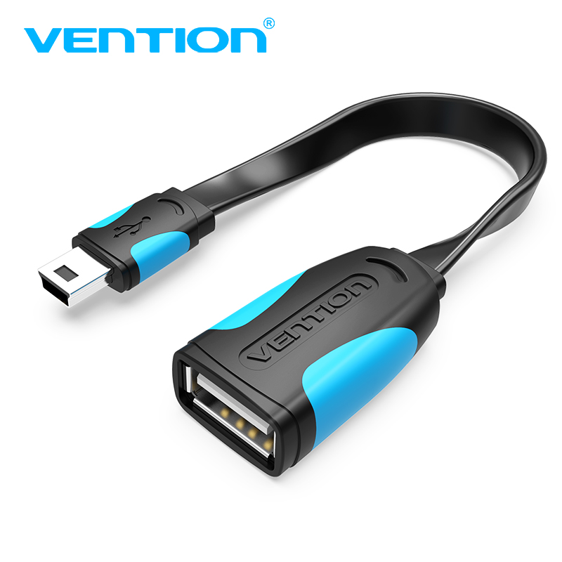 Vention Mini USB OTG Cable 0.1m 0.25m Male Mini USB To Female USB OTG Adapter For GPS Camera Mobile Phone Tablet U Disk Mouse