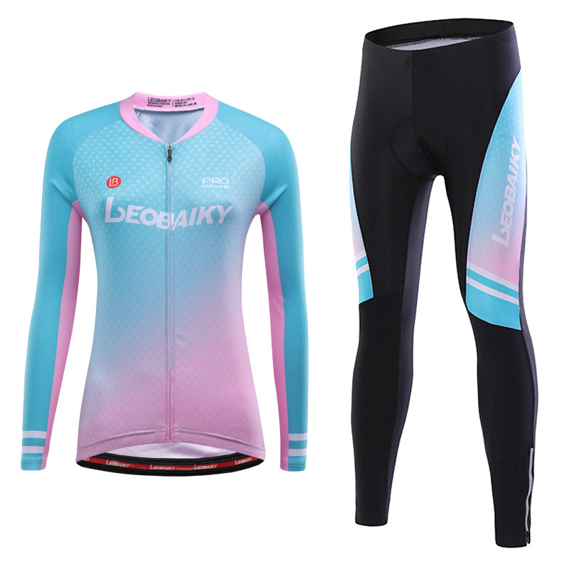 Cycling Uniform Summer Long Sleeve Cycle Jersey Set Pro Team Mountain Bike Clothes Women Bicycle Clothing Mtb Wear Sports Outfit