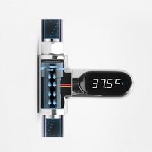 LED דיגיטלי מדחום אמבטיה מקלחת ברזי 360 לסובב אמת זמן טמפרטורת צג M25