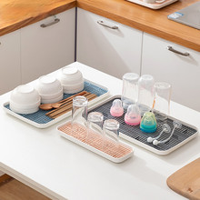 kitchen sink organzier,soap and sponge holder,bottle cup tableware Drain Tray - Storage Tray for Dish washing Sponge, Scrubber