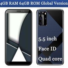 5mp + 13mp 7a pro 4g ram 64g rom quad core face id smartphones wifi telefones celulares frente/câmera traseira 5.5 polegada desbloqueado versão global