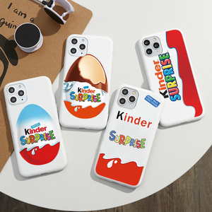 Hot fun egg kinder joy glossy Case For iPhone 11 Pro X XR XS Max 7 8 6 Plus Chocolate surprise Box Soft silicon Phone Cover Capa(China)