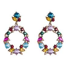 New Boucle Doreille Femme Summer Fashion Earrings Acrylic Retro Party Female Boho