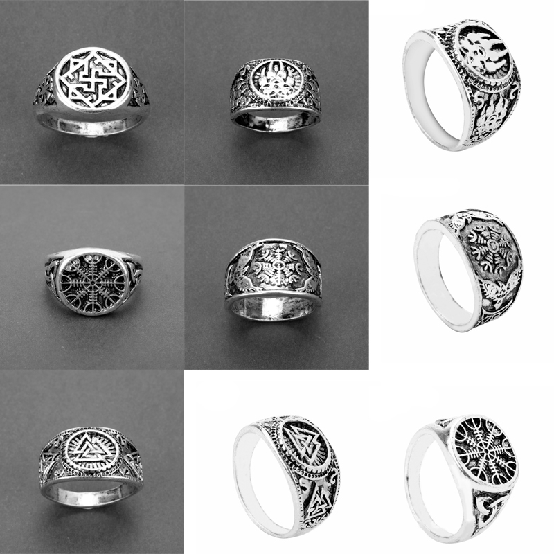 Viking age Norse Nordic Slavic Pagan Ring Women Men Vintage Jewelry Accessories Finger Rings