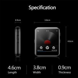 Image 4 - Mini klip Bluetooth4.2 MP4 oyuncu Metal dokunmatik ekran HIFI kayıpsız ses müzik Video oynatıcı desteği FM, kaydedici, a B tekrar