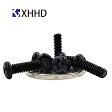 M2 M2.5 M3 M4 Pan Head Machine Screw Metric Thread Phillips Cross Recessed Round Head Bolt Iron Steel Black m2 m2 5 m3 m4 phillips cross recessed pan head machine screw iron metric thread round head bolt black steel