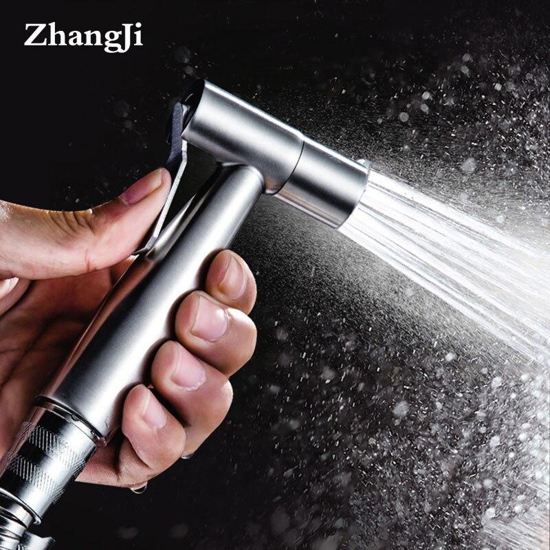 Zhangji Stainless Steel Bathroom Handheld Spray Bidet Sprayer Set Kit Toilet Women Bidet Faucet Multifunctional Rinse Nozzle