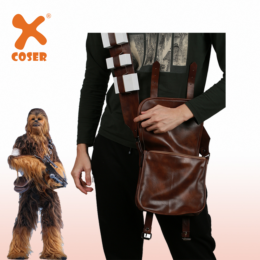 XCOSER Episode 3- Revenge of the Sith Movie Chewbacca Backpacks Cosplay Props Halloween Cosplay Costume Accessory