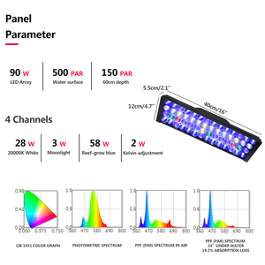 Image 2 - Marine led light aquarium lamp led lights for aquarium led lighting fish tank lights remoter aquarium decoration light