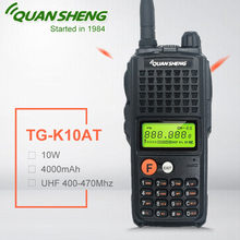 10W QuanSheng TG-K10AT 10Watt Walkie Talkie radio station comunicador UHF 400-470MHz Two-way Radio Amador 4000mAh HF Transceiver(China)
