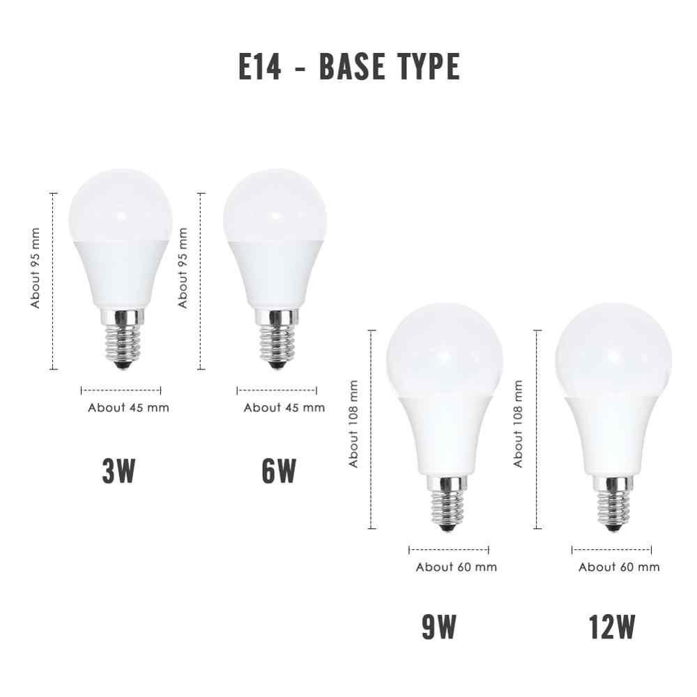 หลอดไฟLED E27 E14 3W 5W 6W 7W 9W 12W 15W 18W ampoule Spotlight 220VตารางโคมไฟประหยัดพลังงานLampada Bombilla