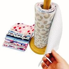 Yeniden kullanılabilir Unpaper havlu mutfak kağıdı yedek temizlik pamuklu mendil bambu elyaf mutfak bulaşık havlusu rulo
