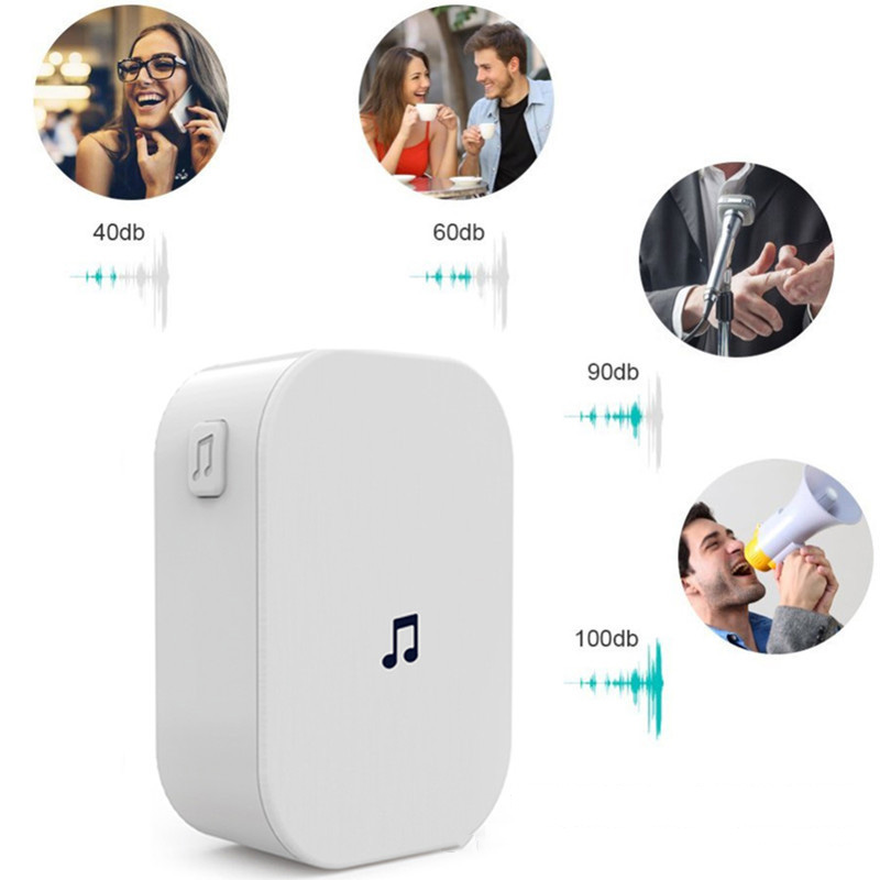 New M2D Home Security 100DB 300M <font><b>Remote</b></font> Control Wireless Video <font><b>Doorbell</b></font> 433MHz Waterproof EU US Plug Smart Wifi <font><b>Doorbell</b></font> Chime image