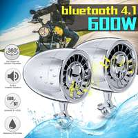 600W 5Inch MP3 Music Audio Player bluetooth Speakers For Motorcycle Waterproof Portable Stereo Motos Audio Amp System