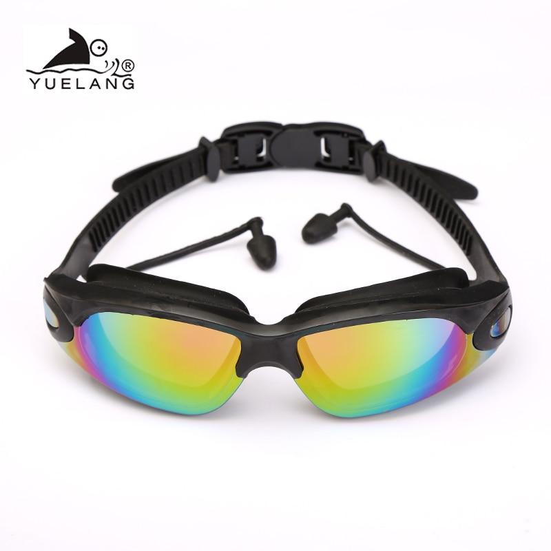 Waterproof Glasses Earplugs Professional Swimming Goggles Adult Silicone Swimming Caps Pool Anti-fog UV swimming goggles arena(China)