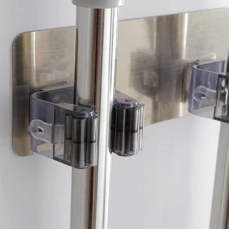 ممسحة حامل مكنسة الحائط ممسحة المنزلية لاصق تخزين شماعة معدنية هوك رفوف المطبخ الحمام المنظم