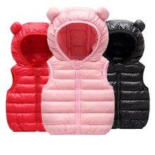 Winter Outerwear Hooded-Jackets Waistcoat Down-Vest Baby-Boys-Girls Kids Children Warm