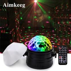 7 cores led luz da noite rgb luz de palco controle remoto voz ativado bola de discoteca luz 6 w luzes de festa 2 em 1 luzes decorativas