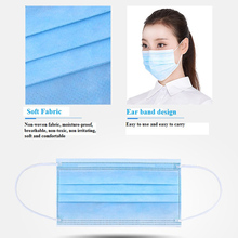 Shipped Now! Face Mask N95 3-Ply PM2.5 50Pcs/Pack Nonwoven Disposable Elastic Mouth Soft Breathable Face Filter Face Mask
