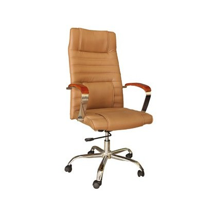 CHAIR DE Street Address Q-CONNECT HIGH BACK ADJUSTABLE HEIGHT HIGH 1190 + 60MM WIDTH 750MM PROF 520MM LEATHER