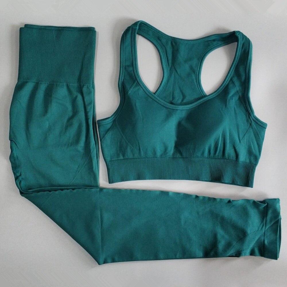 ginástica e corrida, sem costura, calças esportivas,