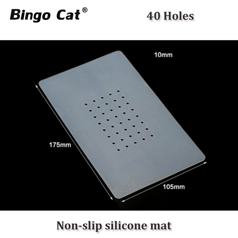 Lcd Separating Machine Non-slip Silicone Mat With Holes for LCD Screen OCA Glue Removing Mobile Phone Repair Tools