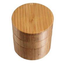 Бамбуковая соляная коробка держатель соли с крышкой бамбуковые