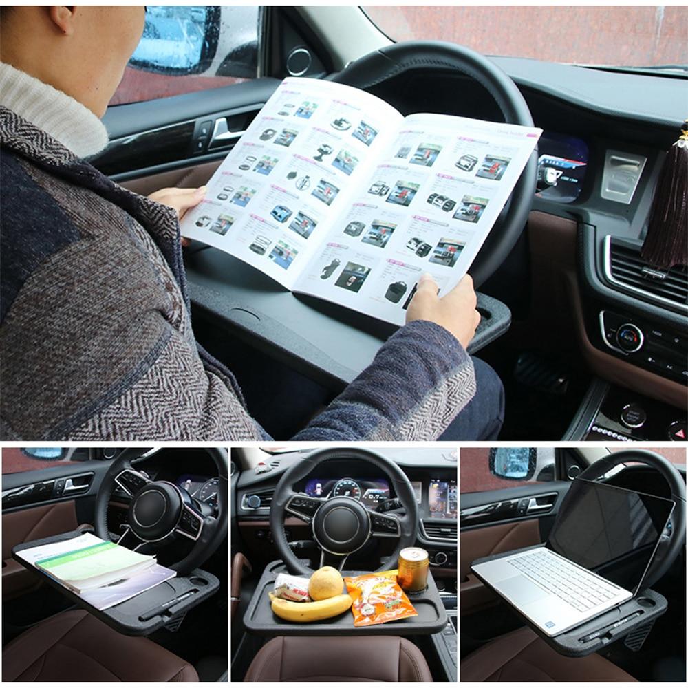 Автомобильный стол на руль, портативное настольное крепление на руль, Многофункциональная подставка для планшета, аксессуары для автомоби...