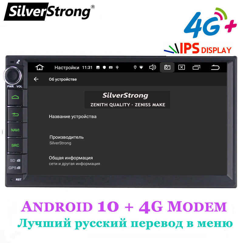 SilverStrong IPS Android9.0 4G Auto DVD 2din Universele Auto GPS Radio Magnito Tape Recorder Navigatie optie DSP