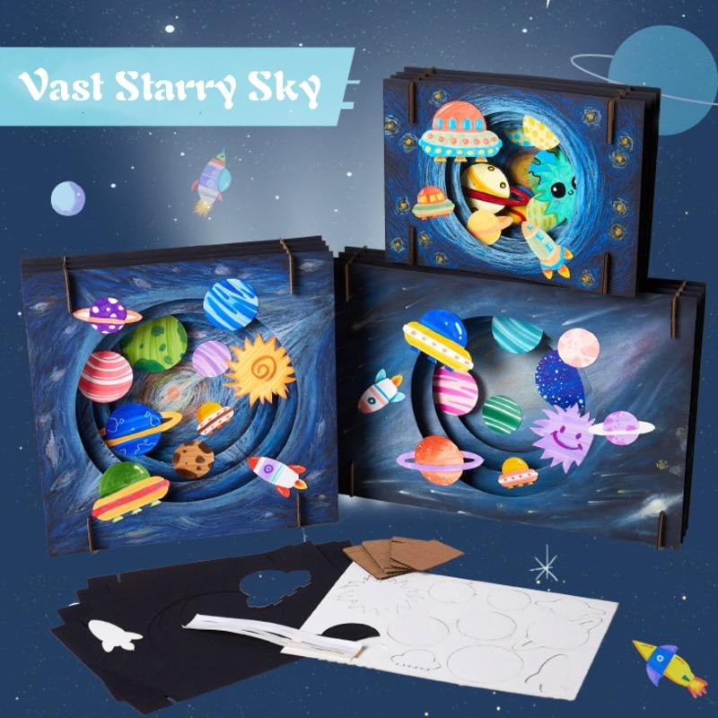 DIY Vast Starry Sky Handwerk Spielzeug Für Kinder Kreative Handgemachte Pädagogisches Kunst Und Handwerk Für Kinder Interaktive Pädagogisches Spielzeug