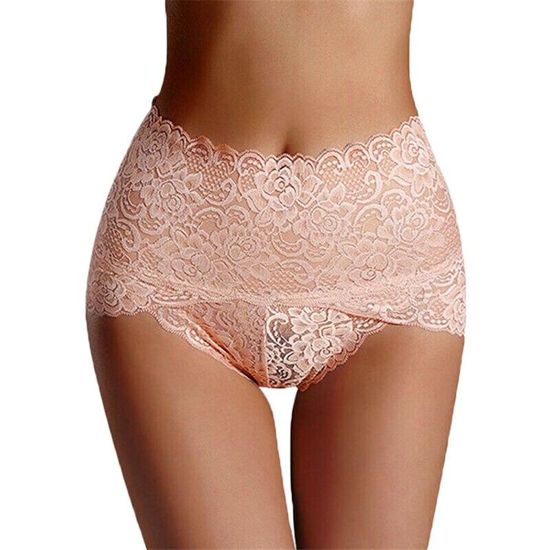 High Quality Women Seamless Lace Panties Breathable High Waist Butt Lift Briefs Underwear DM-19ING