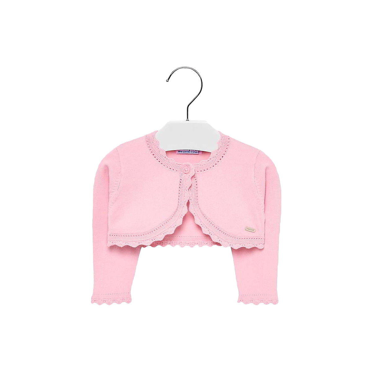 MAYORAL Suits & Blazers 10691241 Girls bolero Jacket coat cardigan shirt Blazers Casual Pink Cotton coat color pink