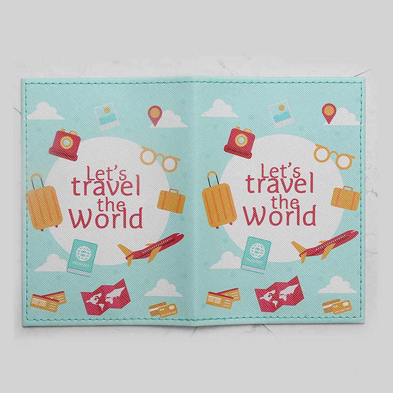 Mode Niedlichen Katze & Ente Tiere Cartoon Passport Abdeckung Männer Frauen PU Leder Reise Reisepass Fall Karte ID Halter 14,5*10 cm