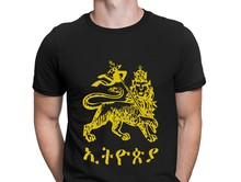 Ethiopia Lion Of Judah T Shirt Awesome Designs S-3xl Fitness Clothing Mens T Shirts Best Slim Cheap Summer Style Funky(China)